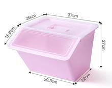 Grande caixa de armazenamento de plástico com capa de roupas crianças brinquedos zero alimentos acabamento caixa de cozinha caixa de armazenamento transparente