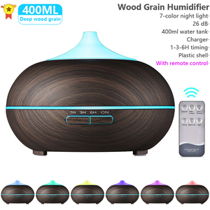400ml Aroma Essential Oil Diffuser Ultrasonic Air Humidifier For Xiaomi Mijia With Wood Grain Remote Control For Office Home