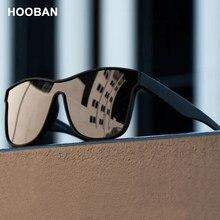 HOOBAN – lunettes de soleil polarisées carrées pour hommes et femmes, à la mode, Design de marque, lentille UV400, nouvelle collection 2021