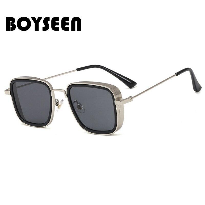 2020 Retro Steampunk Sunglasses Men Brand Designer Steam Punk Plastic Metal New Sun Glasses Men Women UV400 Gafas De Sol