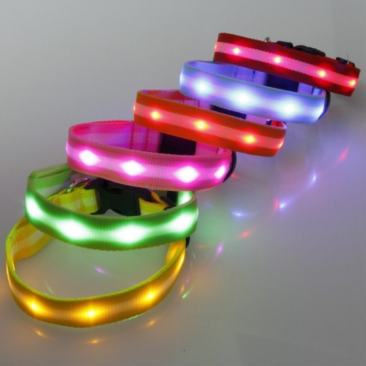 LED Shining Light Belt Dog Neck Ring Teddy VIP Golden Retriever Flash Neck Ring USB Chargeable Luminous Collar