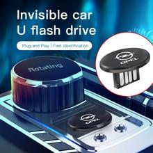 1 Pièces Linvisibilité En Métal USB Mini Portable U Disque Accessoires Pour OPEL Astra Corsa Insignes Mokka OPC Vectra Zafira Meriva