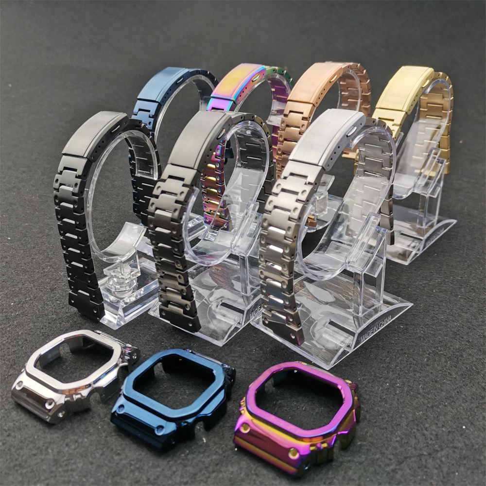 Stainless Steel Watch Bands And Bezel Watchbands Bracelet Fit For Watch DW5600 GW-M5610 GW5000 Series With Tools Wholesale