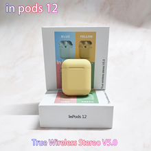 Wireless Bluetooth Headset inpods12 tws Mini Headphones Scrub Earphone With Microphone For iphone Millet Pk i7s-tws i9s i11