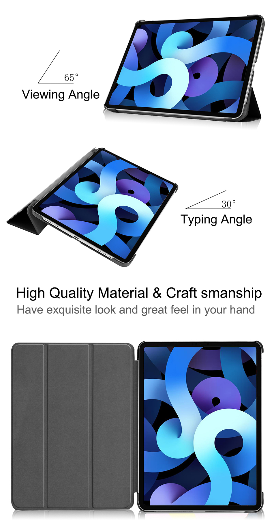 Pro Sanmubaba Leather 10.9 Generation For 4th Slim Air Cover Case inch iPad Magnetic PU 2020