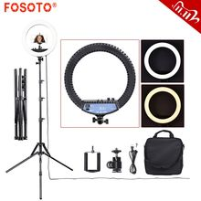 fosoto RL 12II Photography light Ringlight 240Pcs Led Ring Lamp Light With Tripod Stand For Camera Phone Photo Studio Youtube