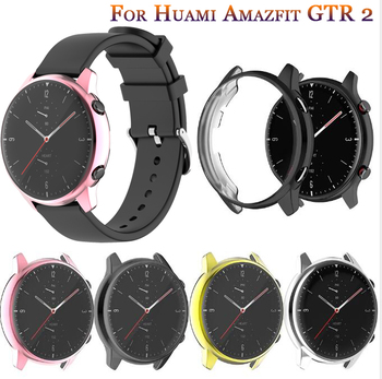 TPU Soft Protective Cover For Xiaomi Huami Amazfit GTR 2 Watch Case Shell Protector Frame For GTR2/GTR Silicone Plating Cover tpu soft silicone soft full screen glass protector case shell frame for huawei honor es watch fitting plating protective cover