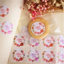 12pcs Thank you Heart Round Kraft paper Seal sticker For handmade products baking products sealing sticker Label 120 pcs lot cute long hand made with love kraft paper seal sticker for handmade products baking products sealing sticker label