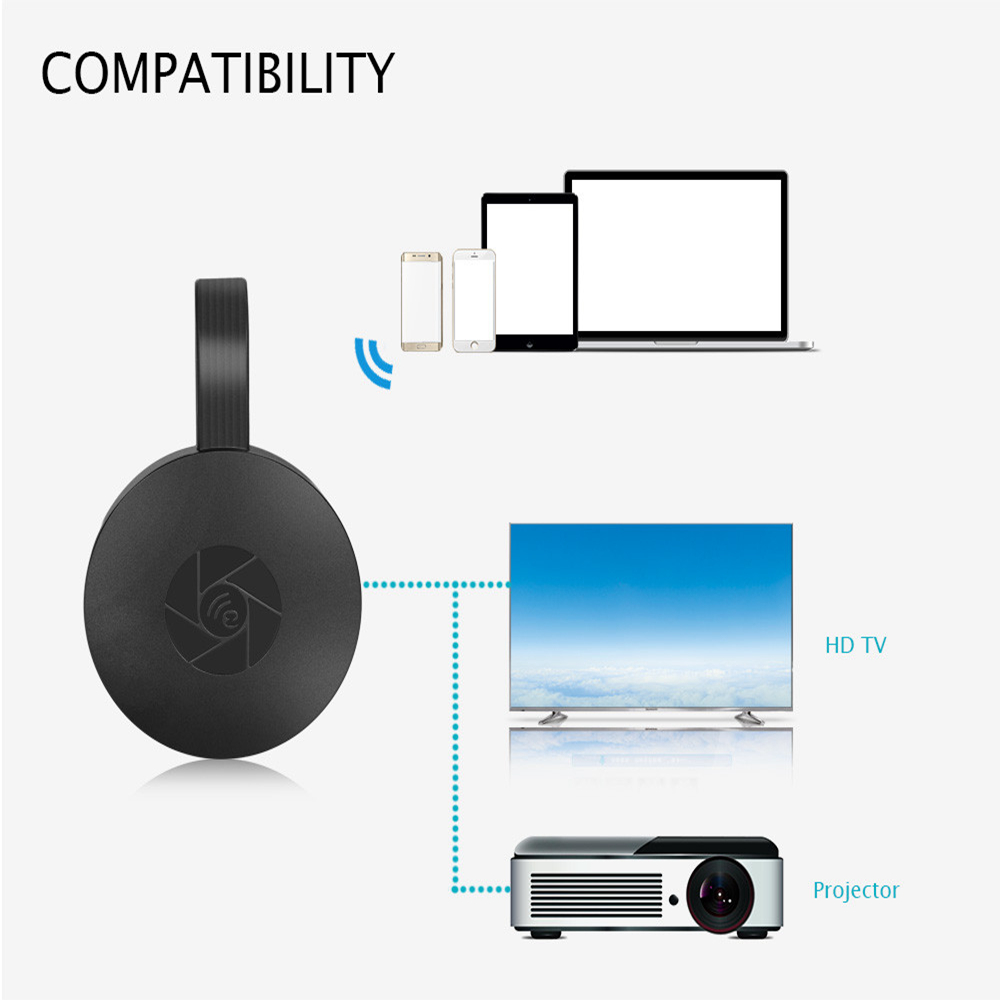 Mobile phone wireless screen device 1080p WiFi Display Dongle YouTube AirPlay Miracast TV Stick for Google Chromecast 2 3