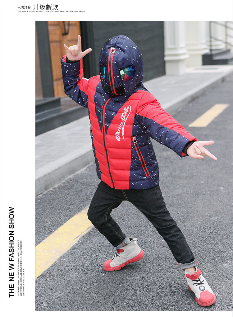 Hbb389ea0177c4563890efff4d17fabd30 - Winter Warm Kids Boys Jackets With Glasses For Children Waterproof Cotton-Padded Parkas with Glasses Teenage Hoodies Coat