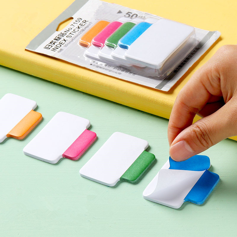 Color Note Paper Block Memo Pad Planner Index Card Tabs Stickers Classification Sticky Multifunction Message Fluorescent Film