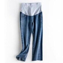 Новые Модные осенние джинсы для беременных, Одежда для беременных, штаны с регулируемой талией для беременных женщин