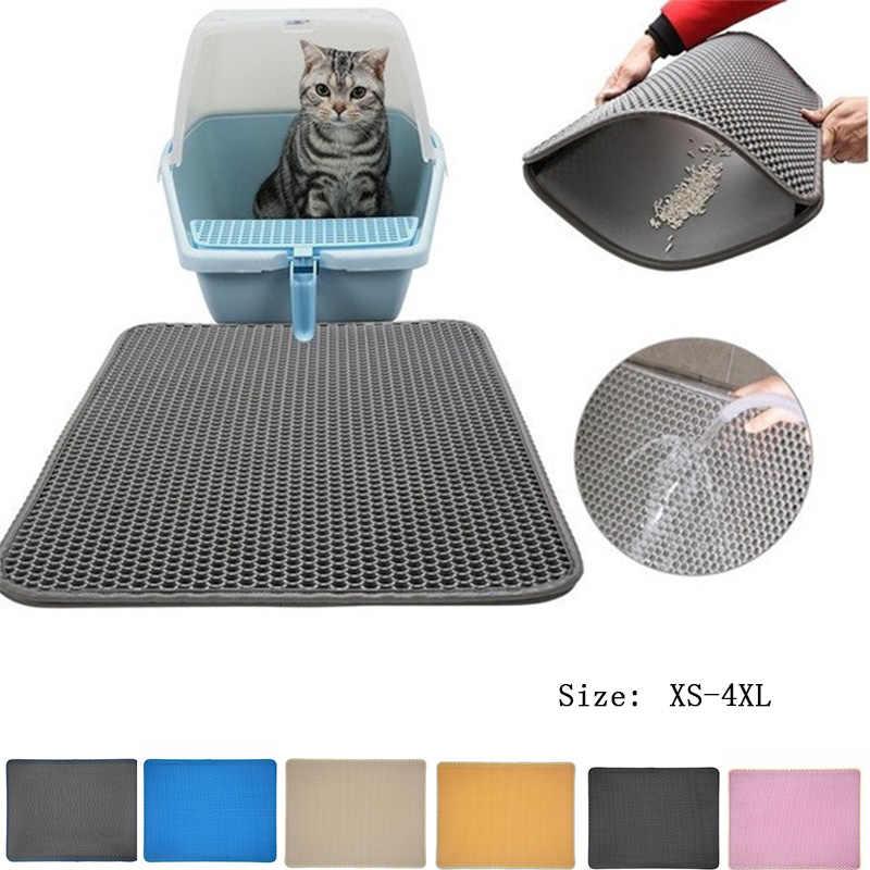 10 색상 쓰레기 매트 애완 동물 카펫 고양이 모래 고양이 화장실 매트 고양이 방수 매트 애완 동물 고양이 트 랩퍼 Foldable EVA 미끄럼 방지 매트
