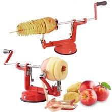 Batata torção manual de aço inoxidável batata frutas spira; cortador torcido batata maçã slicer descascador multifuncional cozinha cutt