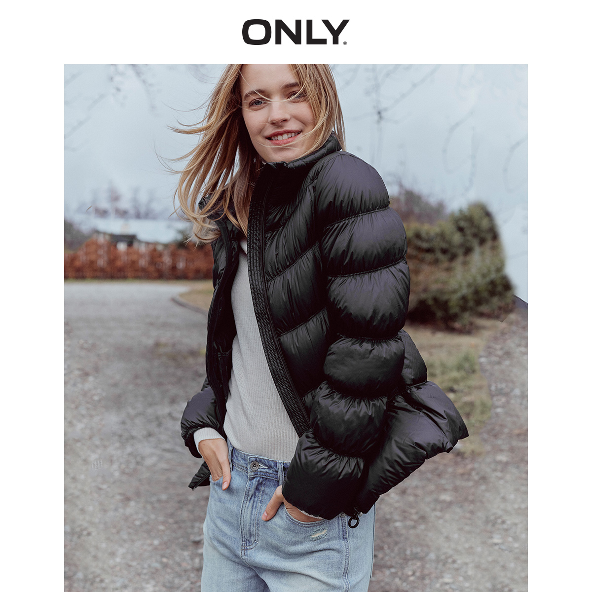 ONLY  Autumn Winter Women's Slim Fit Light-weight 90% Down Jacket | 119323514