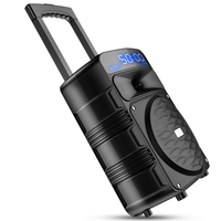 T50 Outdoor Mobile Trolley Speakers Bluetooth Large Volume Audio Support Wireless Mic Home Party Performance Subwoofer Speaker