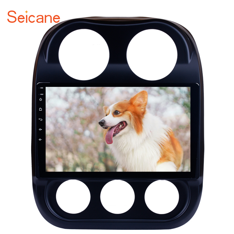 Seicane Android 9.0 10.1 inch HD 1024*600 for <font><b>2014</b></font> 2015 <font><b>Jeep</b></font> <font><b>Compass</b></font> Car Radio Bluetooth GPS Navigation Player with 4G WIFI image