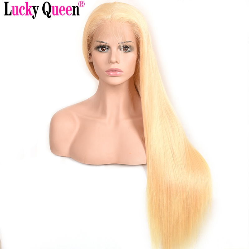 Full Blonde 613 Brazilian Remy Human Hair Full Lace Wigs Density 150% Light Blonde Straight Long Hair Lace Wig With Baby Hair