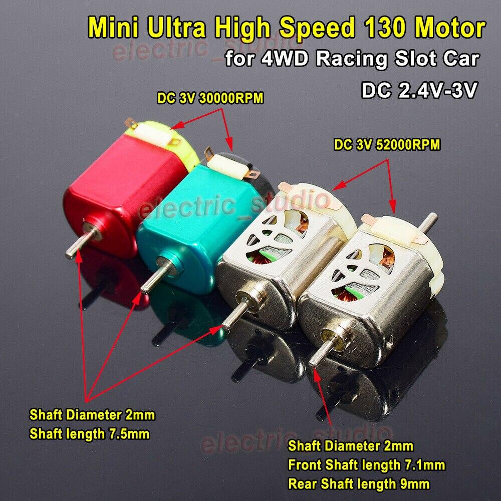 1 шт. DC 2,4 V-3V 30000 об/мин/50000 об/мин Ультра высокоскоростной микро-130 мотор RC DIY Сделай Сам 4WD гоночная игрушка слот проигрывателя