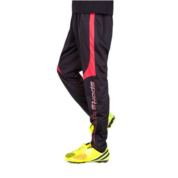 Штаны для американского футбола, мужские футбольные тренировочные штаны, штаны с карманами на молнии для бега, мужские спортивные штаны для фитнеса и тренировок - Цвет: Black Red