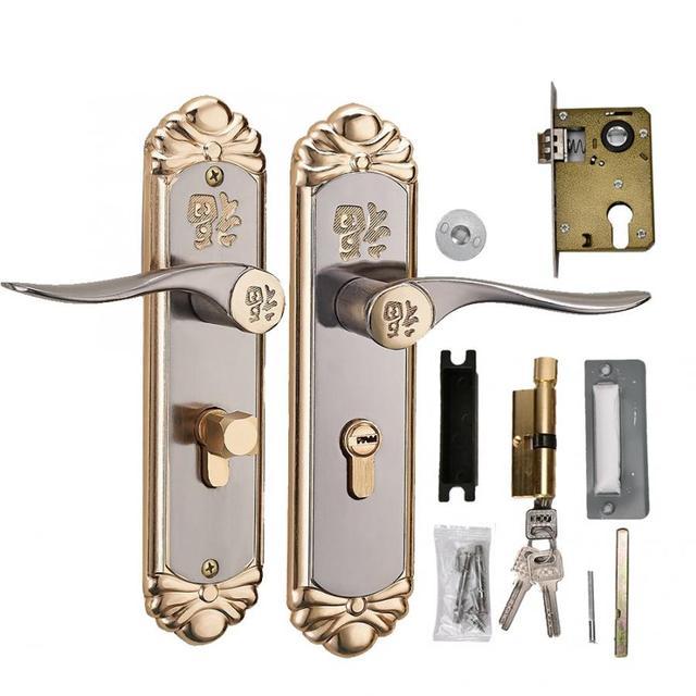 Cerradura inteligente para puerta, manija interior duradera europea, cilindro de cerradura de puerta con llaves, cerradura para manija de puerta