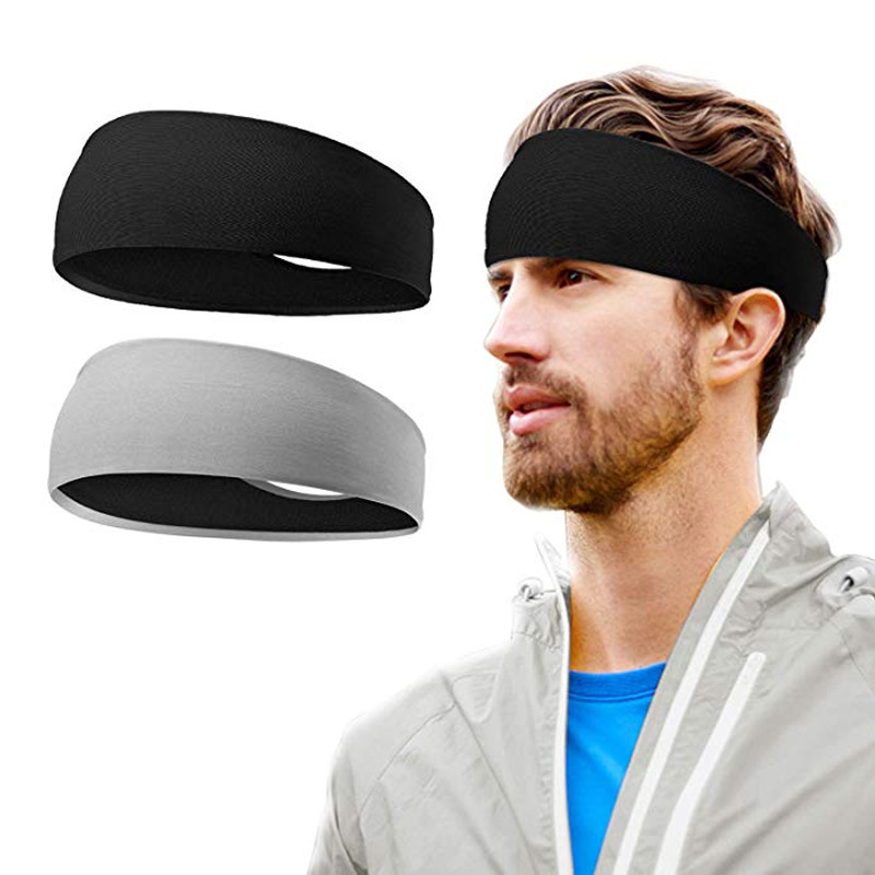 Explosion style running basketball fitness sports black gray headband hair band antiperspirant belt hair band