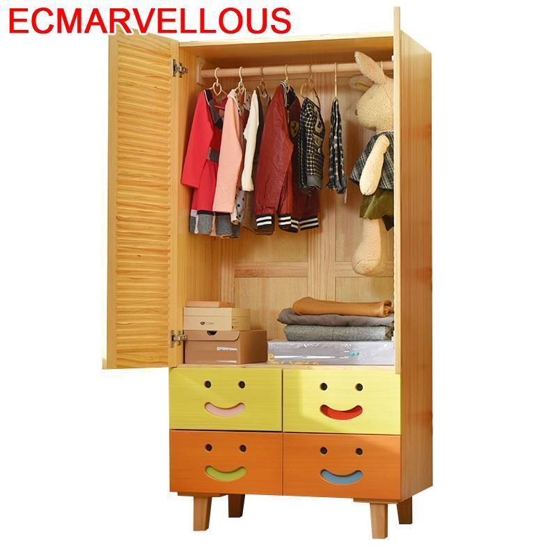 Rangement Vetement Armario Chambre Slaapkamer Shabby Chic Wooden Cabinet Mueble De Dormitorio Bedroom Furniture Closet Wardrobe