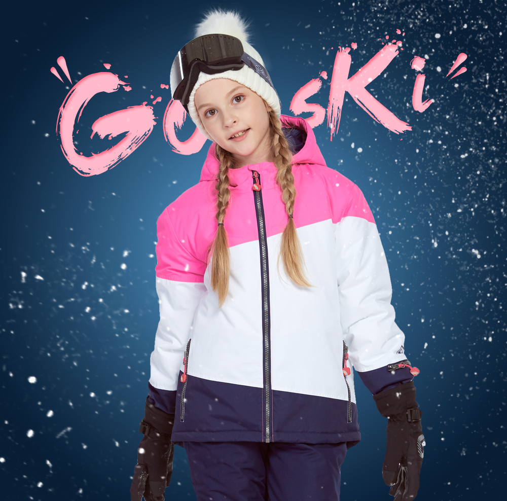 belted ski jacket