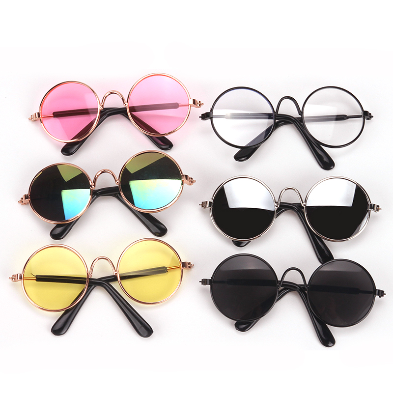 43 Cm Baby Dolls Glasses Newborn Stylish Metal Framed Sunglasses Baby Toys Accessories Fit American 18 Inch Girls Doll Q1