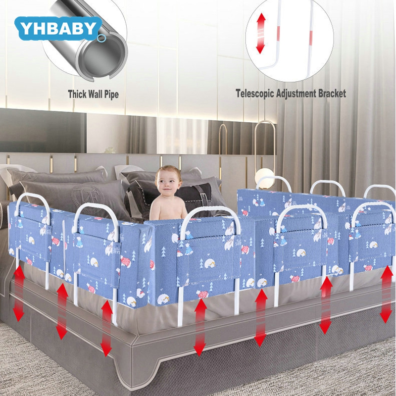 Baby Playpen Baby Safety Gate Crib Rail Security Fencing Large Bed General Soft Bed Guardrail Baby Bed Fence Home Kid Playpen