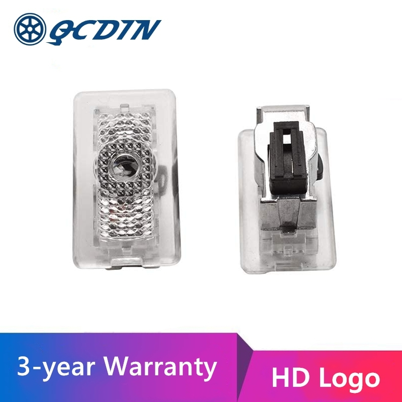 Qcdin para tesla conduziu a luz do logotipo da porta do carro diodo emissor de luz bem-vinda logotipo projetor para tesla modelo 3/s/x/y ultra-brilhante hd