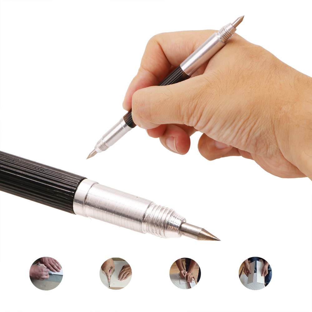 NICEYARD Portable Double-headed Alloy Tip Scriber Pen Marking Engraving Tools Glass Ceramic Marker