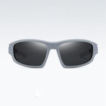 Gafas de sol de diseño de marca Souson para hombre con lentes de película de color