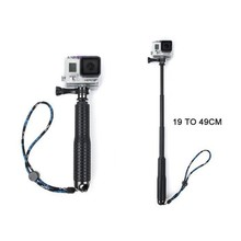 19 Inch Action Camera Handheld Monopod Extendable Camera Selfie Stick Light weight Tripod for SJ4000 for Gopro HERO 5/2/3/3+/4 p(China)