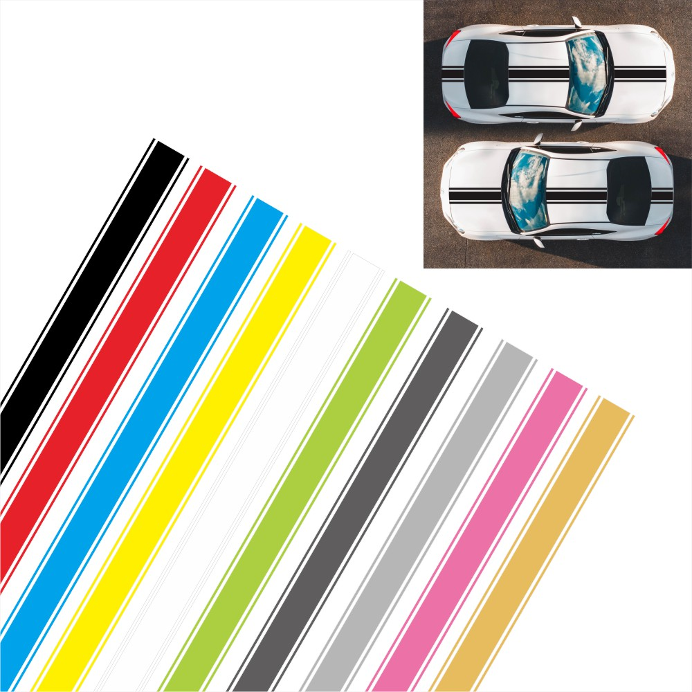 1 шт. гоночная полоса виниловая полоса pinstripe hood decal sticker fashion fun stripe cover car truck sticker автозапчасти