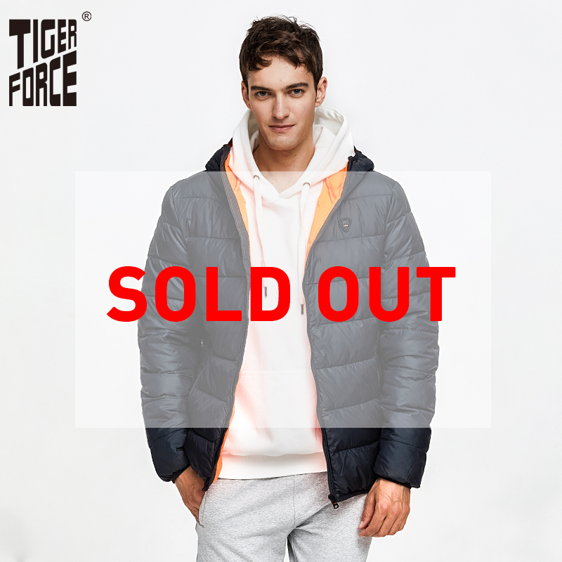 TIGER FORCE hommes veste bouffante automne hiver décontracté à capuche manteau coton rembourré manteau hommes Parkas contraste mâle vêtements de sortie