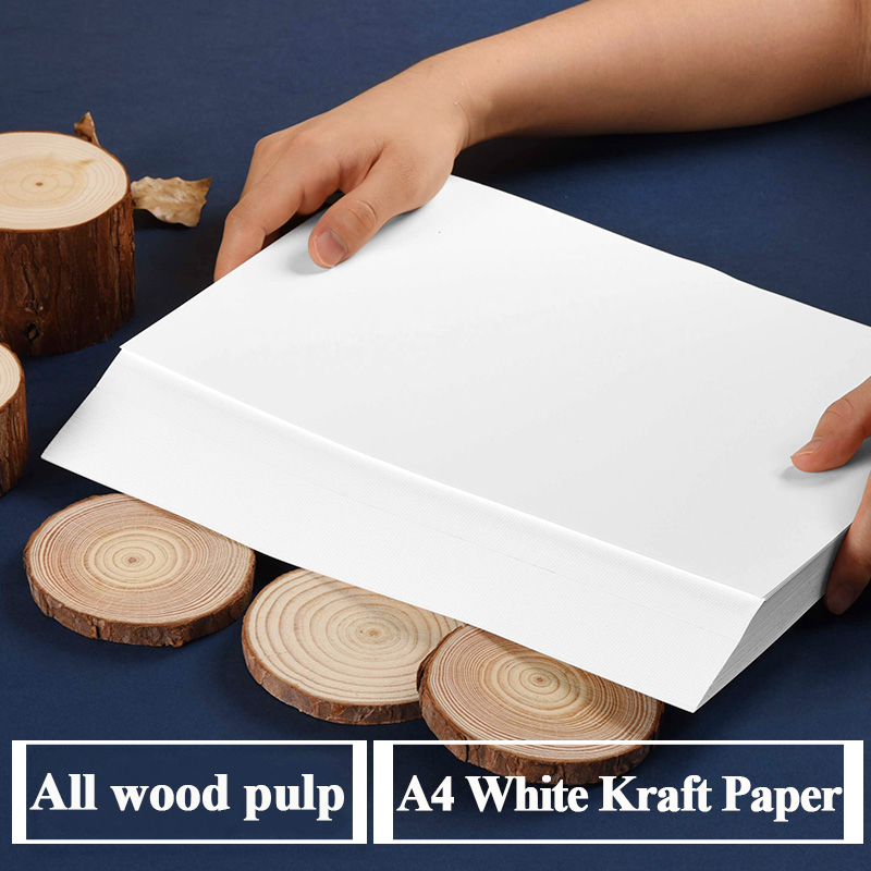 A4 White Kraft Paper Handmade DIY Card Board Craft Paper Thick Pultipurpose Cardstock Graffiti Paperboard 20 50 Sheets Pack