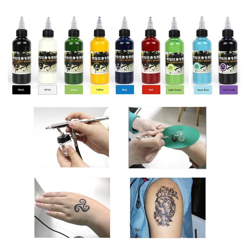 Colorful Temporary Tattoo Pigment Airbrush Temporary Tattoo Ink Natural Safe Plant Pigments For Spray Pen Body Paint