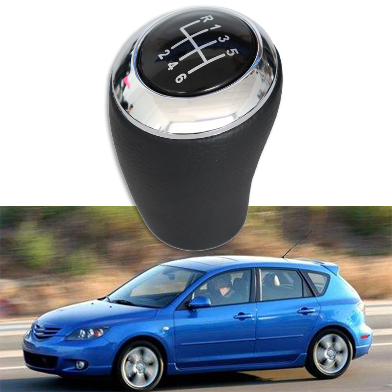 Car Manual Gear Shift Knob Stick Shifter Head Black For Mazda 3 5 6 BK BL 5 CR CW 6 II GH CX-7 ER MX-5 NC III