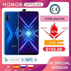 - 3.54€  Code: aliex344 Câmera dupla da honra 9x do smartphone 4g128g 48mp da versão especial 6.59 android android telefone móvel android 9 4000mah ota google play