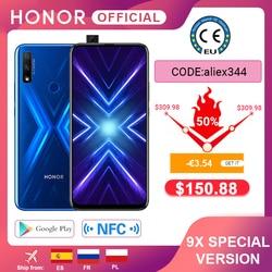 - 3.54€  Code: aliex344 Spezielle Version Ehre 9X Smartphone 4G128G 48MP Dual Cam 6.59 ''Handy Android 9 4000mAh OTA Google Spielen