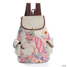 Backpacks Schoolbags Travel-Bag Shoulder Teenage Girls Female Fashion Cute Cartoon Unicorn