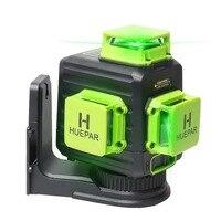 Huepar 3D 12 lines Green Beam level+ PV10 +1 batteries