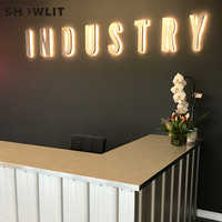 Stainless Steel Lighting Wall-Mounted Signs LED Backit Signage