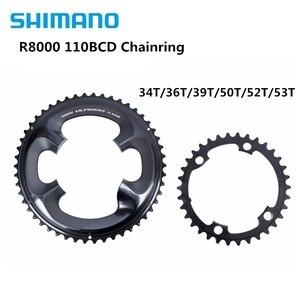 Image 1 - Shimano Ultegra R8000 11 prędkości rower szosowy łańcuch rowerowy 50 34T 52 36T 53 39T R8000 110BCD 34T 36T 39T 50T 52T 53T korona 110BCD
