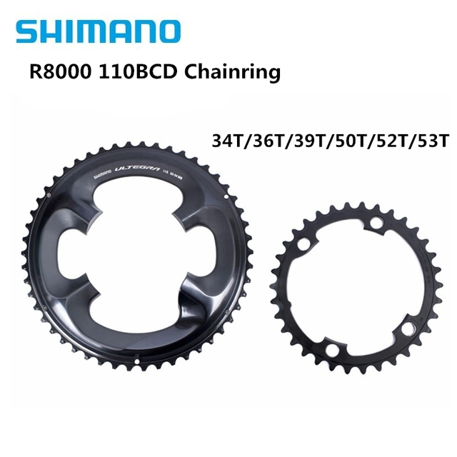 Shimano Ultegra R8000 11Speed Road Bike Bicycle Chainring 50 34T 52 36T 53 39T R8000 110BCD 34T 36T 39T 50T 52T 53T Crown 110BCD