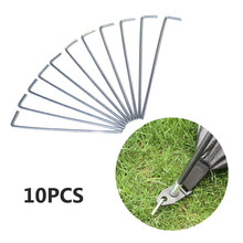 Vertvie High Quality 10pcs Metal Durable Nails Tent Camping Sturdy Stakes Pegs Nail Steel Outdoor Ground Stakes Tent Accessories(China)