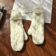Теплые зимние перчатки с закрытыми пальцами вязаные крючком