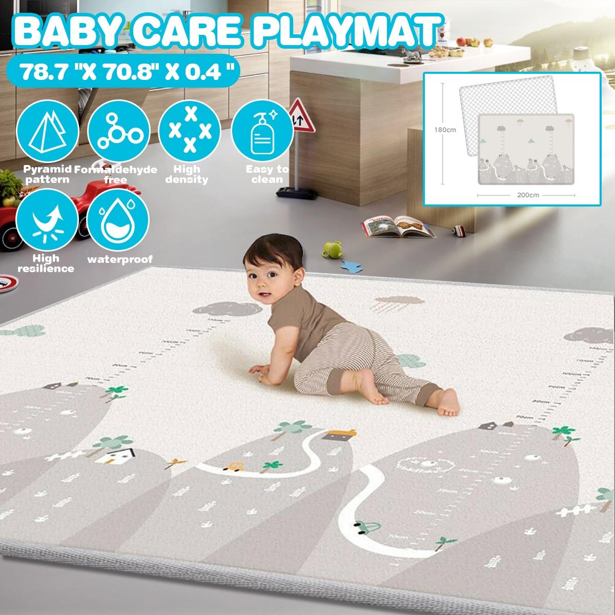 Infant Shining Baby Play-Mat Thickening Eco-friendly Children Playmat EPE 200X180X1.5CM Cartoon Non-slip Carpet Living Room Mat
