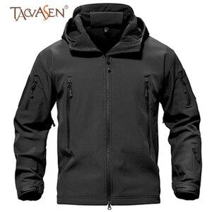 Image 1 - TACVASEN צמר טקטי מעיל גברים עמיד למים מעיל Softshell Windproof ציד מעילי טיולים בגדים חיצוני מחומם מעיל